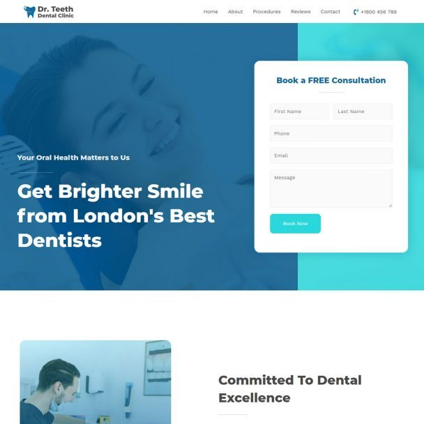 Template Web Dentist Clinic