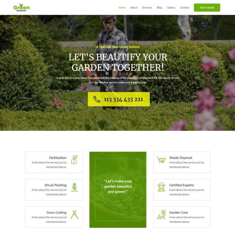 Template Web Garden Landscape