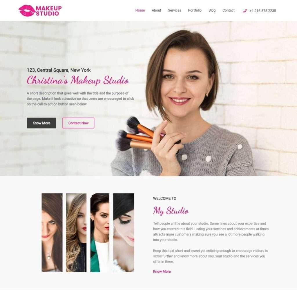Template Web Makeup Artist