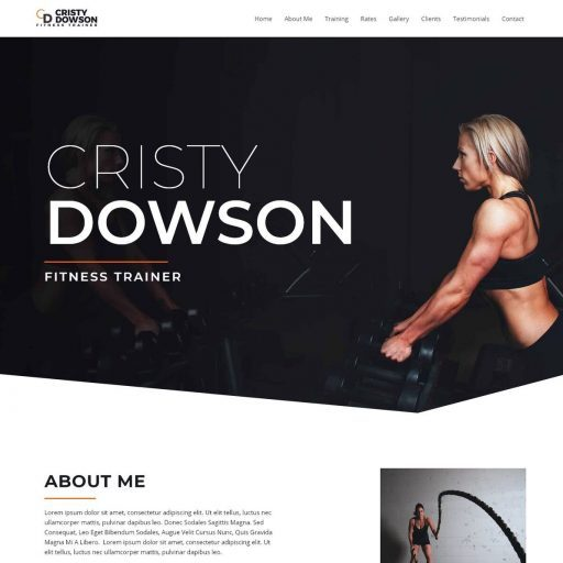Template Web Trainer Fitness