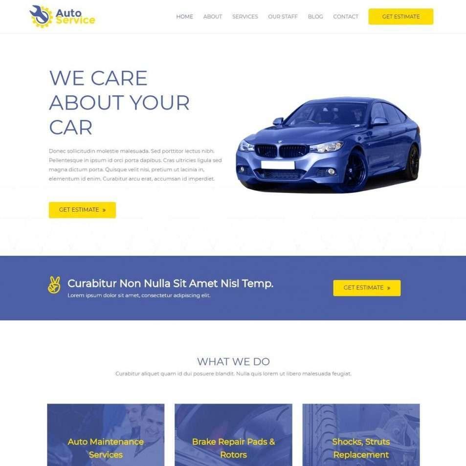 Template Web Car Repair