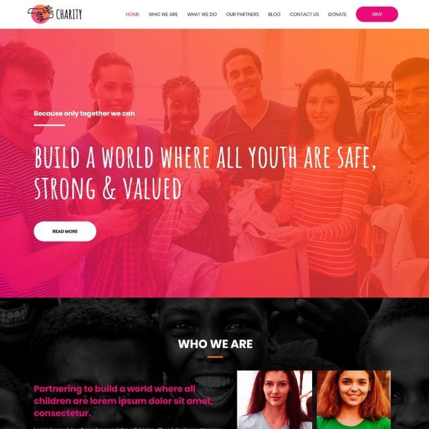 Template Web Charity