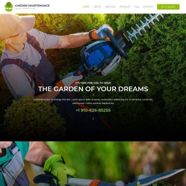 Template Web Maintenance Garden