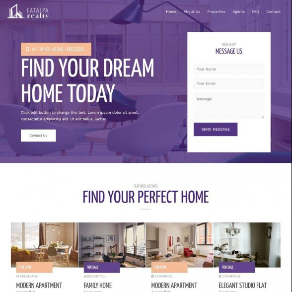 Template Web Real Estate