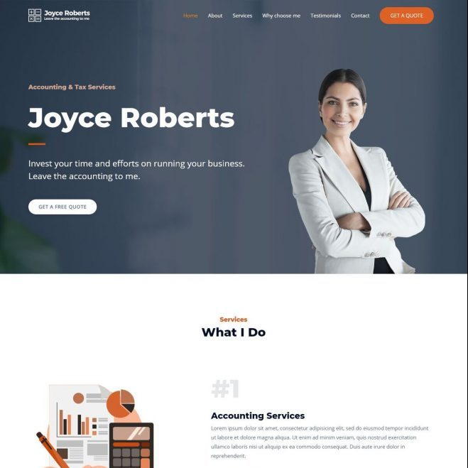 Template Web Accountant
