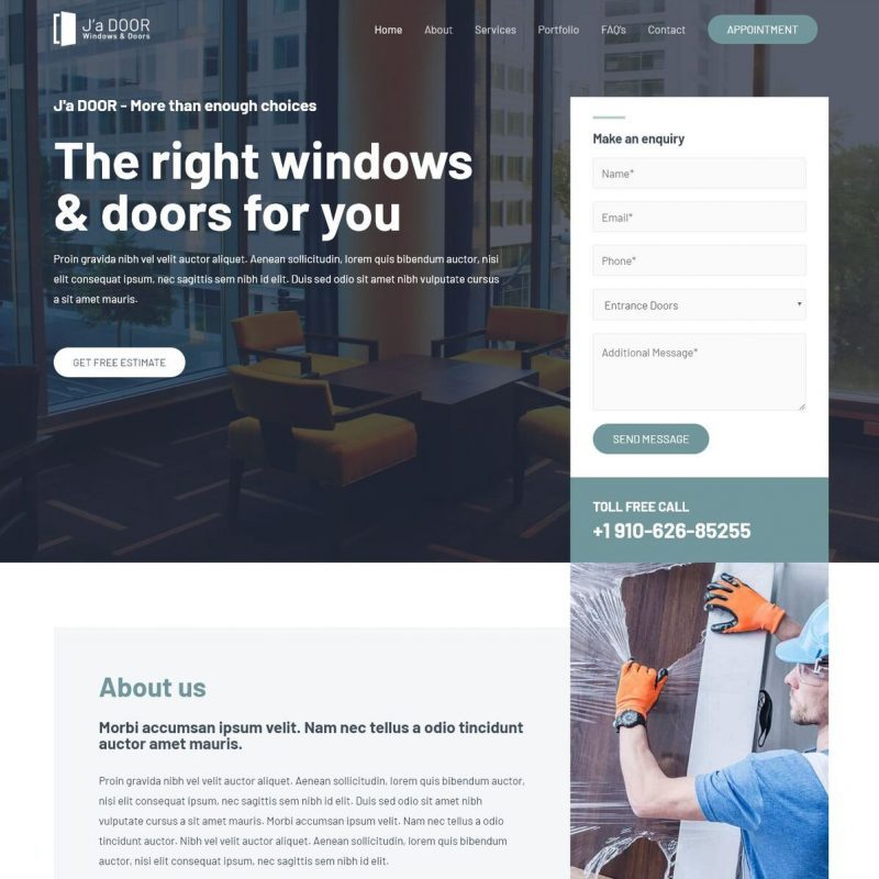 Template Web Home Service