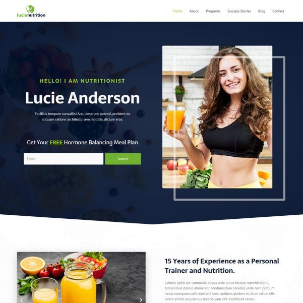 Template Web Nutritionist